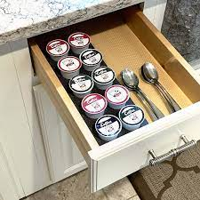 Coffee pod organizer drawer inserts. Amazon Com Polar Whale Coffee Pod Storage Organizer Tray Drawer Insert For Kitchen Home Office Waterproof 4 5 X 11 75 Inches Holds 10 Compatible With Keurig K Cup Home Kitchen