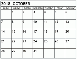 Calendar In Word Document Free Printable Calendar October 2018 Template Word Document