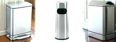 stainless steel kitchen trash can. Cool Stainless Steel Trash Cans B2472824 Living Kitchen Can Garbage Bins Home Depot For Gallery