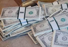 500 dollar bills stock photo by