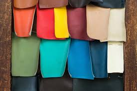 artificial vegan leather in diffe colors