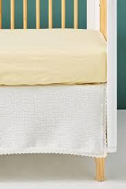 tatiana white cotton lace crib skirt