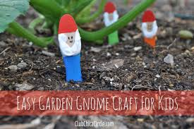 garden crafts. Painted Garden Gnomes Craft For Kids Crafts