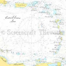 Chart Of Caribbean Islands Islands The Caribbean Nautical Chart Decor