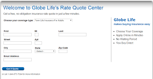 globe life insurance quote step 3