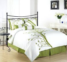 green fl bedding lime green fl duvet cover green fl king size duvet cover chezmoi collection 7 pieces green tree on white queen comforter set