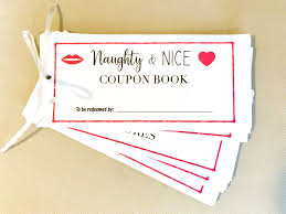 Relationship Coupon Book Naughty Nice Coupon Book For Your Spouse Just Simply Mom