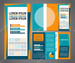 Flyer Template For Pages Business Brochure Layout Three Fold Flyer Template Design
