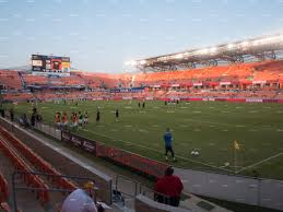 bbva compass stadium section 102 view
