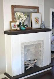 fake fireplace ideas how to make a fake fireplace out of wood fake fireplace mantel ideas