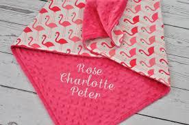 image of soft flamingo baby blanket