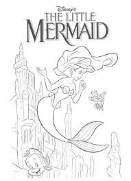 Small Picture Little Mermaid Coloring Pages Coloring Coloring Pages