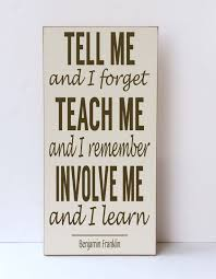 teach me involve me wood sign inspirational wall art children decor school decor classroom sign sustainable home decor your colors on wooden wall art inspirational quotes with tell me i forget teach me i remember involve me wood sign