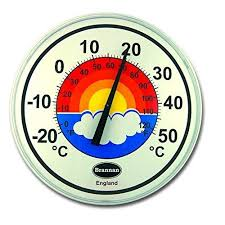 wall thermometer large 300mm dial patio