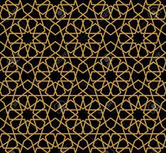 Arabic Pattern Gorgeous Seamless Arabic Pattern Design Monochrome Gold Wallpaper