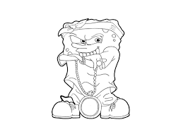 44 Gangster Spongebob Coloring Pages Free Coloring Pages Of