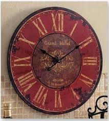 Details about <b>Vintage Wooden Wall Clock</b> Large Shabby Chic ...