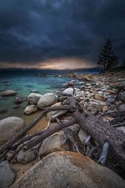 Calm Before the Storm - Sunset - Lake Tahoe, NV USA | Cool landscapes, Calm  before the storm, Nature