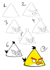 angry birds drawing for kids.  For Drawing Tutorials Step By  Google Search Throughout Angry Birds Drawing For Kids
