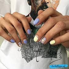 Myšlenka Na Design Nehtů Jemné Barvy Manikúra