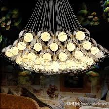 modern art glass chandelier led pendant light for living room bar ac85 265v g4 bulb hanging glass pendant lamp fixtures kitchen pendant lights outdoor