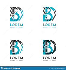 Graphic Design Bd The Bd Logo Set Of Abstract Modern Graphic Design Blue And