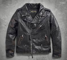 harley davidson men s master distressed slim fit leather biker jacket 98003 18vm