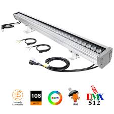 Daylight Led Light Bar Atcd 108w Led Wall Washer Dmx512 Light Bar 108w Rgb And 5000k Daylight White Color Changing Led Light Bar Ip65 Outdoor Scurity Rgb Led Light For