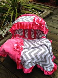 pink car seat covers sets beautiful chevron gray pink infant car seat by