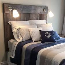 <p>Reclaimed barn board headboard we finished a while back. This was was