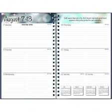 planners weekly monthly house of doolittle 27502 recycled academic weekly monthly appointment book planner 5x8 black 2019 2020