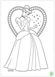 Cinderella Coloring Page Free Pages Online Games Download