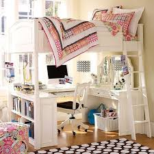 full loft bed with desk for teens
