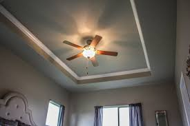 Tray Ceiling with Crown Molding craftsman-bedroom