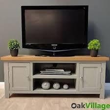 grey tv stand. Beautiful Stand Image Is Loading GreyPaintedLargePlasmaOakTVUnitSolid Intended Grey Tv Stand