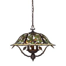titan lighting latham 3 light tiffany bronze ceiling mount chandelier