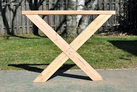 x table legs build this outdoor table featuring a herringbone top and x brace legs would x table legs