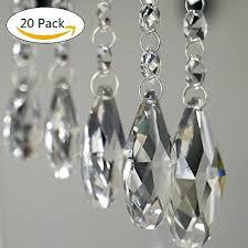 pendants clear teardrop chandelier crystal pendants glass pendants beads pack of 20 38mm clear