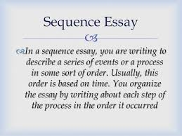 kind of essays occurred sequence essay 10