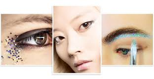 glitter eye trend fall 2016 burberry glitter eye makeup far left beauty