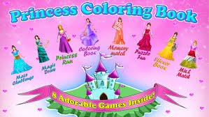 Small Picture Princess Painting Games Princess Coloring Book All In 1 Draw Paint