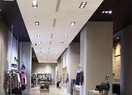 use multiple recessed lighting for retail spaces interior decorating lighting design