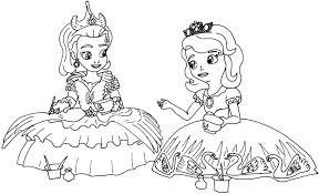 Small Picture Sofia The First Coloring Pages Tea for Too Many Sofia the First