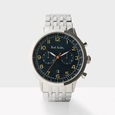 paul smith men s designer watches paul smith men s petrol and silver precision chronograph watch