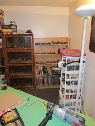old picture but it gets the point across i ve since cleared a lot of the old books off of one shelf to make room for more minis