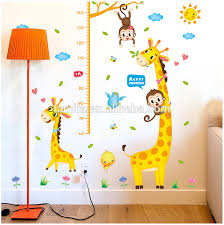 Giraffe Wall Decal Growth Chart Fashion Kids Height Growth Chart Wall Sticker Giraffe Wall Chart For Baby Learning Height Measurement Sticker Buy Childrens Educational Wall