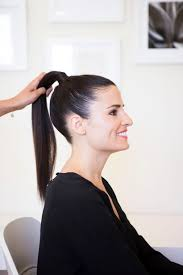 Slicked Back Hair Style how to get a runwayperfect slicked back pony camille styles 6848 by stevesalt.us