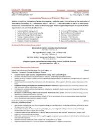 It Security Resume Resume For Study