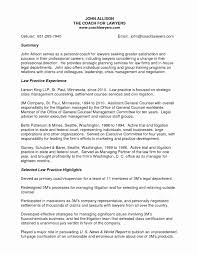 Attorney Resume Sample Unique In House Counsel Resumes Resume