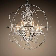 foucaults orb chandelier orb crystal chandelier polished nickel extra large foucault orb chandelier 44 foucaults orb chandelier